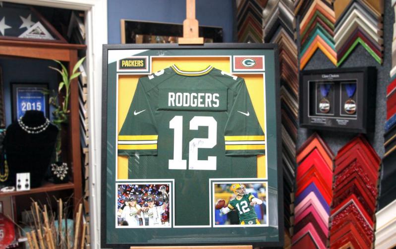 custom framed jersey